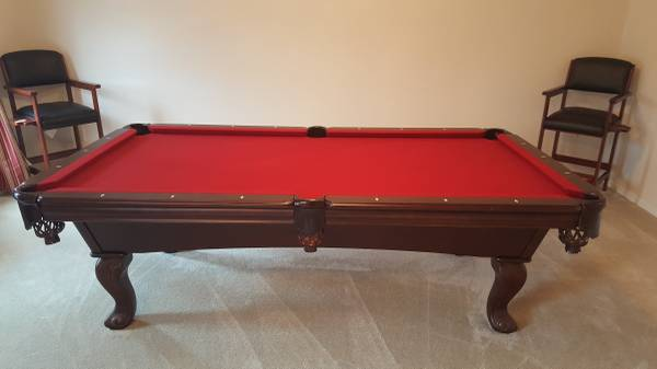 Pool Table, Two Chairs, Pool Stick Holder, Ball Rack, Pool Table Cover, And  Pool Balls. These Items Are In Like New Condition Because I Rarely Played  Pool.