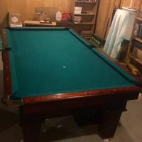 Cherry Wood Pool Table in Great Condition