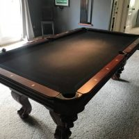 7' Pool Table & Accessories For Sale