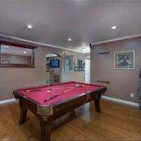 Brunswick Red Felt Pool Table For Sale