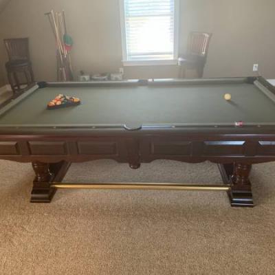 Green Felt Pool Table