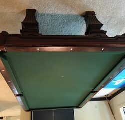 Olhausen Kirkwood 8 ft plus Paraagon table tennis conversion table. Both in very good condition.