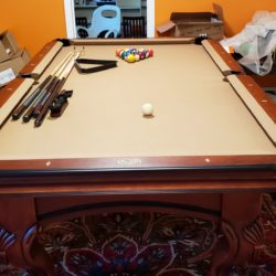 Spencer Marston Savona Pool Burgundy Table w Camel (Teflon) Felt
